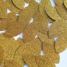 "Navette Leaf Sequin 1.5"" Medium Gold Metallic Sparkle Glitter Texture Paillettes"