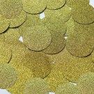 Round Sequin 40mm Yellow Metallic Sparkle Glitter Texture Couture Paillettes