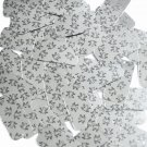 """Rectangle Sequin 1.5"""" Tree Frog Print on Silver Metallic Couture Paillettes"""