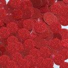 Round Sequin 15mm Dark Red Metallic Sparkle Glitter Texture Couture Paillettes