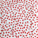 """Square Diamond Sequin 1.5"""" Red White Sweet Hearts Print Opaque Couture Paillette"""