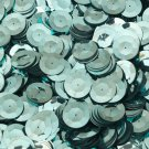20mm Cup Round Sequins Aqua Blue Shiny Metallic. Made in USA