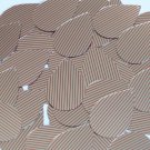 "Sequin Teardrop 1.5"" Red Silver Pinstripe Print on Shiny Metallic"
