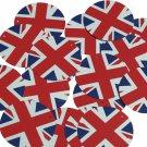 "Round Sequin 1.5"" Union Jack British English Flag Great Britain Opaque"