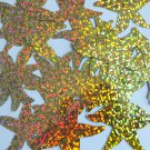 "Sequin Starfish 1.5"" Gold Hologram Glitter Sparkle Metallic. Made in USA"