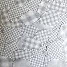 "Sequin Teardrop 1.5"" Black White Grid Check Squares Print Opaque"