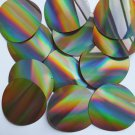 Sequin Round 60mm 2 hole Gold Lazersheen Reflective Metallic. Made in USA
