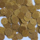 Round Sequin 15mm Medium Gold Metallic Sparkle Glitter Texture Paillettes