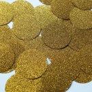 Round Sequin 40mm Medium Gold Metallic Sparkle Glitter Texture Paillettes