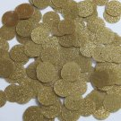 Round Sequin 15mm Gold Metallic Sparkle Glitter Texture Couture Paillettes