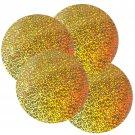 "Sequin Round 4"" / 100mm Gold Hologram Glitter Sparkle Metallic. Made in USA"