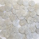 Round Sequin 15mm Silver Silky Fiber Strand Fabric Couture Paillettes