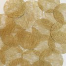 Round Sequin 40mm Gold Silky Fiber Strand Fabric Couture Paillettes