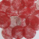 Round Sequin 40mm Red Silky Fiber Strand Fabric Couture Paillettes