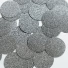 Round Sequin 40mm Platinum Gray Metallic Sparkle Glitter Texture Paillettes