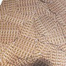 Round Sequin 30mm Orange Silver Rocaille Seed Bead Print Metallic Paillettes