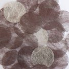 Round Sequin 40mm Chocolate Brown Silky Fiber Strand Fabric Couture Paillettes