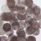 Round Sequin 15mm Chocolate Brown Silky Fiber Strand Fabric Couture Paillettes