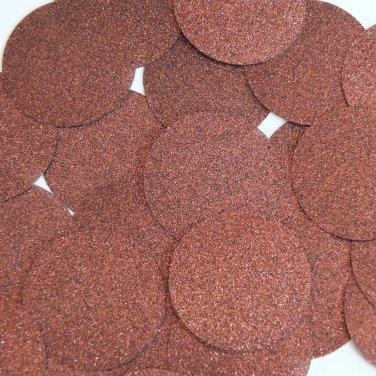 Round Sequin 40mm Chocolate Brown Metallic Sparkle Glitter Texture Paillettes