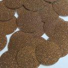 Round Sequin 40mm Coffee Brown Metallic Sparkle Glitter Texture Paillettes
