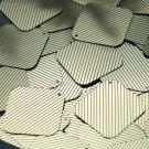 "Sequin Square Diamond 1.5"" Gold Black Pinstripe Metallic Couture Paillettes"