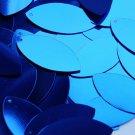 """Royal Blue Shiny Metallic Navette Leaf 1.5"""" Couture Sequin Paillettes"""