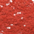 6mm Flat Loose Sequin Paillette Coral Red Opaque Glossy Made in USA