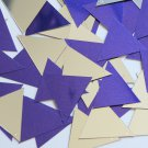 Sequin Triangle 30mm Purple Silver Metallic Couture Paillettes. Made in USA.