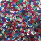 6mm Flat Loose Sequin Paillette Metallic Colorful Multi Mix Made in USA
