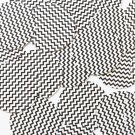 "Sequin Round 1.5"" Black White Chevron Print Opaque"