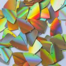"Sequin Fishscale Fin 1"" /25mm Gold Lazersheen Reflective Metallic. Made in USA"