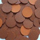 24mm Vinyl Disc Orange Brown BasketBall Texture No Hole Round Circle