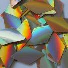 "Sequin Long Diamond 1.75"" Gold Lazersheen Reflective Metallic. Made in USA"