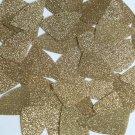 "Fishscale Fin Sequin 1.5"" Light Gold Metallic Sparkle Glitter Texture Paillettes"