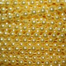 Yellow Pearl Beads 2.5mm Molded on Thread Fused to string 120 inches (10')