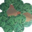 """Round Sequin 1.5"""" Green Burdock Dock Leaf Gold Metallic"""