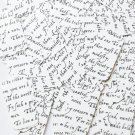 """Sequin Rectangle 1.5"""" Black White Midsummer Night's Dream Shakespeare Script"""