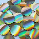 "Sequin Round Ruffle Edge 1.5"" Gold Lazersheen Reflective Metallic. Made in USA"