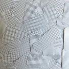 "Sequin Rectangle 1.5"" Black White Grid Check Squares Print Opaque"
