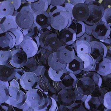 8mm Cup Sequins Navy Blue Metallic