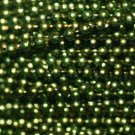Green Pearl Beads 2.5mm Molded on Thread Fused to string 120 inches (10')