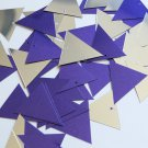 Sequin Pennant 30mm Purple Silver Metallic Couture Paillettes. Made in USA.