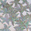 "Starfish Sequin Top Hole 1.5"" Silver Hologram Glitter Sparkle Metallic Paillette"