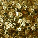 5mm Cup SEQUIN FACET PAILLETTES ~ GOLD  Metallic ~ Made in USA