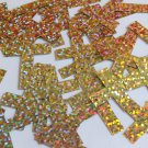 "Sequin Simple Cross 1.5"" Gold Hologram Glitter Sparkle Metallic. Made in USA"