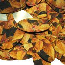 "Oval Sequin 1.5"" Gold Orange Coleus Foliage Leaf Metallic"