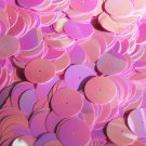 20mm Sequins Center Hole Orchid Pink Opaque Iris Rainbow Iridescent. Made in USA