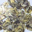 "Sequin Teardrop 1.5"" Yellow Silver Bird Feathers Print Metallic"