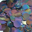 20mm Sequins Center Hole Black Metallic Iris Rainbow Iridescent. Made in USA