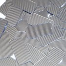 "Sequin Rectangle 1.5"" Blue Silver Pinstripe Metallic Couture Paillettes"